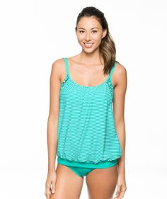 NEXT In Between Lines Double Up Tankini Top