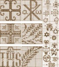 Religious Designs Vintage Cross Stitch Transfer Patterns for download