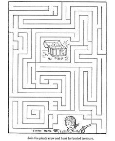 Free, printable mazes for kids are fun! Printable Mazes - Activity for kids Pirate Activities, Book Activities, Toddler Activities, Handwriting Activities, Mazes For Kids Printable, Free Printables, Kids Mazes, Kids Puzzles, Maze Puzzles