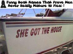 Funny Boat Names That Prove Men Never Really Mature (10 Pics)