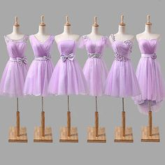 NEW Short Bridesmaid Dress Cocktail Evening Prom Dress Formal Party Ball Gowns Mismatched Bridesmaid Dresses, Wedding Bridesmaid Dresses, Homecoming Dresses, Purple Cocktail Dress, Short Cocktail Dress, Cheap Dresses, Formal Dresses, Dresses To Wear To A Wedding, Ball Gowns