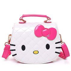 ce93448fba New Girls Cute Shoulder Bag Children Cartoon Hello Kitty Bowknot Handbag  Kids Tote Girls Shoulder Bag Mini Bag
