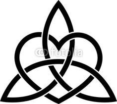 Triquetra coeur paganisme, noeud celtique triple