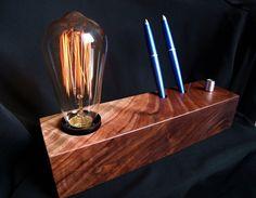 Edison lamp Vintage lamp Christmas gift by WoodTribeStudio on Etsy