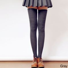 Showcase your personal style with these thigh-high winter socks! Wear them with a skirt or dress, or layer them under pants for added warmth. These thigh-high socks will give your outfit that extra sn