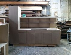 Parlor Kitchen with Open Shelving Sitting on MDF Fronts Ready for Finshing - Credit Buck Projects.JPG