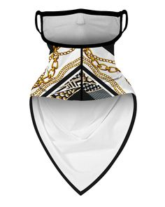 Shop Chain Print Breathable Ear Loop Face Cover Windproof Bandana Outdoors right now, get great deals at clothmyths Mouth Mask Fashion, Fashion Face Mask, Nose Mask, Diy Face Mask, Face Masks, Diy Masque, Trend Fashion, Creation Couture, Ear Loop