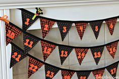 countdown to Halloween banner.