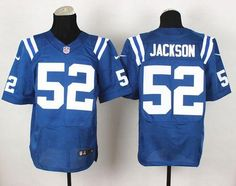 """$23.88 at """"MaryJersey""""(maryjerseyelway@gmail.com) Nike Colts #52 D'Qwell Jackson Royal Blue Team Color Men's Stitched NFL Elite Jersey"""