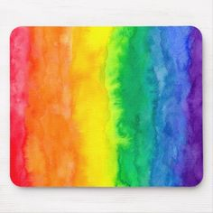 Shop Rainbow Wash Mousepad created by MichaelGiza. Personalize it with photos & text or purchase as is! Cute Mouse, Custom Mouse Pads, Corner Designs, Marketing Materials, Mousepad, Floral Watercolor, Gifts For Dad, Giza, Prints