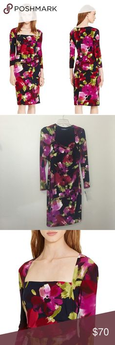 Lauren Ralph Lauren Floral Dress So pretty and perfect for work or play! Brand new with tags. Retail $139. Floral jersey material with stretch. No trades!! 0122716130br Lauren Ralph Lauren Dresses