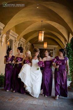 Plum bridesmaid dresses!!