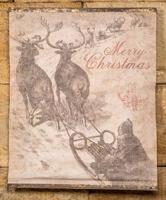 Love this 'Merry Christmas' Scroll by Ragon House on #zulily! #zulilyfinds