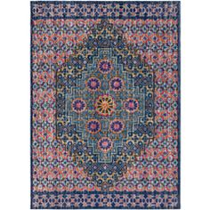 Surya's Tessera rug captures the Masala trend with its bright color palette and intricate designs. (TSE-1016)