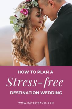 How to plan a stress free destination wedding so you can enjoy your day. Tips for reducing stress planning your wedding. #engaged #bridetobe #katestravel Free Wedding, Plan Your Wedding, Perfect Wedding, Wedding Day, Wedding Locations, Wedding Venues, Marriage Certificate, Beach Wedding Inspiration, Destination Wedding Invitations