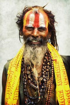 Sadhus often wear necklaces consisting of 108 beads, representing the 108 elements of material creation.
