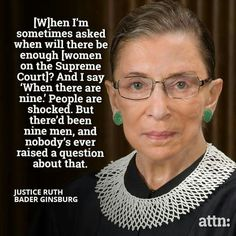 Feminist Celebrity& Quotes QUOTATION – Image : As the quote says – Description Notorious RBG – love her! 😀 A tiny old woman with an immense brain and spirit, and the strength of a superwoman! A hero to me. Sharing Brings Happiness – Don't forget to. Cogito Ergo Sum, The Words, Justice Ruth Bader Ginsburg, Important Quotes, Intersectional Feminism, Badass Women, Thats The Way, Patriarchy, Strong Women