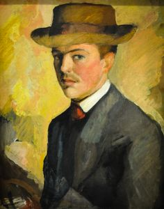 August Macke - Self-Portrait with Hat, 1909 at Kunstmuseum Bonn Germany