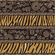 Stylish African Seamless Pattern With Tiger Skin And Ancient.. Royalty Free Cliparts, Vectors, And Stock Illustration. Image 10645518.