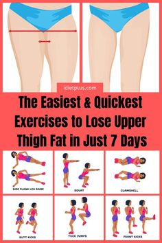 Burn Thigh Fat Fast With a Simple Daily Routine Workout That Includes The Best Exercises For You! Burn Thigh Fat Fast With a Simple Daily Routine Workout That Includes The Best Exercises For You! Lose Thigh Fat Fast, Lose Belly Fat, Lose Back Fat, Fitness Motivation, Fitness Workouts, Fitness Logo, Fitness Design, Fitness Nutrition, Fitness Games