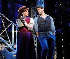 Kara Lindsay and Jeremy Jordan in Newsies. More reviews at Curtain Critic: http://www.curtaincritic.com