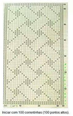 Discover thousands of images about CROCHÊ & MAGIA: Tapete Retangular Verde Abacate e Mescla - Modelo 35 Filet Crochet, Crochet Doilies, Crochet Flowers, Afghan Patterns, Cross Stitch Patterns, Crochet Patterns, Bookmarks Kids, Crochet Bookmarks, Crocodile Stitch