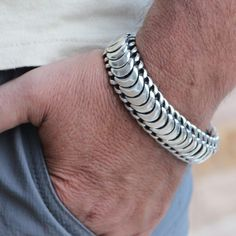 Gold Chains For Men Snake Scales Mens Silver Jewelry, Black Gold Jewelry, Sterling Silver Bracelets, Silver Earrings, Male Jewelry, Brass Jewelry, Mens Silver Bracelets, Mens Jewellery, Skull Jewelry