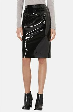 Topshop Vinyl Pencil Skirt available at #Nordstrom
