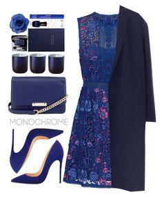 """""""#1084 Monochrome"""" by blueberrylexie ❤ liked on Polyvore featuring Notte by Marchesa, Victoria Beckham, Christian Dior, Deborah Lippmann, Smythson, Jonathan Adler, Chanel, NYX, Accessorize and Jewelonfire"""
