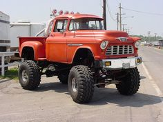 '55 Lifted Chevy by omninate, via Flickr