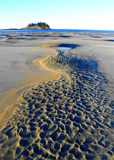 Sand Art, Popham Beach, Maine