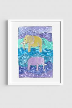 Elephants are my favourite animals, after giraffes, and I can't stop painting them. This colourful, fun print is available as an A4 print at my Etsy shop :)  #artprintsforsale #etsyseller #watercolourart #elephantart #watercolourelephant #watercolorart #animalartforkids #animalart #kidsroomdecor #kidsroom #homedecorideas #nurserydecorideas #babyroomdecor Art Prints For Sale, Kids Prints, Fun Prints, Artwork Prints, Giraffes, Elephants, Baby Room Decor, Nursery Decor, Elephant Art