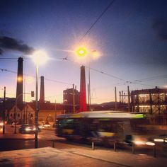 Technopolis by sunset. Walking Athens app, Route 15 - Gazi (Download for FREE) #travel #guide #iPhone #sky #gaslight Gas Lights, Free Travel, Cn Tower, Athens, Night Life, Travel Guide, Walking, Sky, Sunset