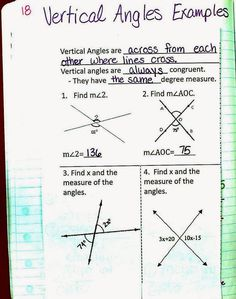 Mrs. Atwood's Math Class: Angle Pair Relationships Pages Angle Pairs