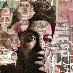hans meertens, billie holiday mixed media