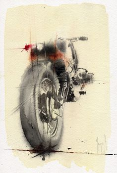 Motorcycles, design and art. I love vintage, I trust in the future! Motorcycle Posters, Motorcycle Art, Bike Art, Art Moto, Bike Sketch, Bmw Boxer, Ouvrages D'art, Art Et Illustration, Car Drawings
