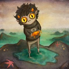 This has got to be the most ADORABLE picture of Karkat in the history of ever.