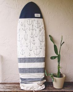 And then I drew anchors all over it... Surf Bag Boardbag Retro shape, fits boards up to 6'2""