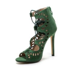 Sandal Lace Up High Heels (More Colors Available)