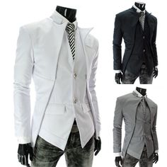 253d7f798ee Men Item+Type  Blazers Clothing+Length  Short Closure+Type  Single+Breasted  Sleeve+Length  Full Model+Number  size  Asian+size+M-XXL color  black