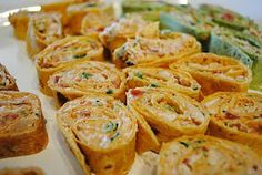 Spicy Chicken Tortilla Roll-Ups-great party appetizer idea for the next game night.