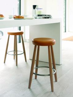 Hans Wegner CH58 classic upholstered bar stool