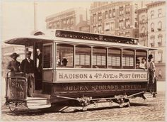 Streetcars manufactured in New York City by the John Stephenson Company. Some of these vehicles, like the one below, stayed here, but others were shipped all over the world.