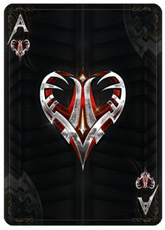 Kickstarter Bicycle Steel Playing Cards -  Steel Ace of Hearts