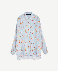 Image 8 of OVERSIZED PRINTED SHIRT from Zara