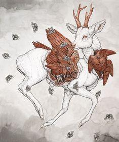 Erika Sanada + Imaginary Menagerie 5 @ Arch Enemy Arts • Beautiful Bizarre Magazine