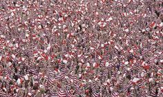 People dressed as Where's Wally