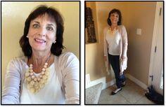 2/11/2016 Mossimo blush cardi, Wit and Wisdom jeans, Loft tee, Mix No. 6 flats, StitchFix necklace. onceuponatimehappilyeverafter.com