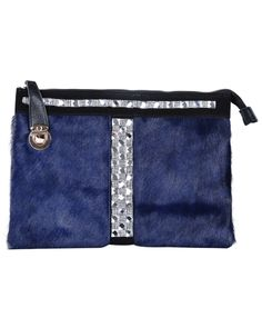 Blue Fur Double Layer Leather Bag US$66.56