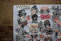 Mihoko Seki Papercut Sticker Sheet   UGUiSU Online Store